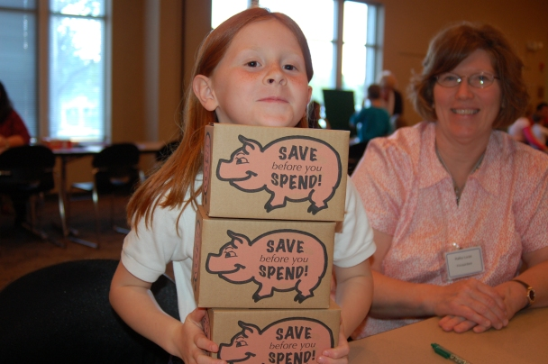 Saving is the start for building wealth so getting kids interested early is key.